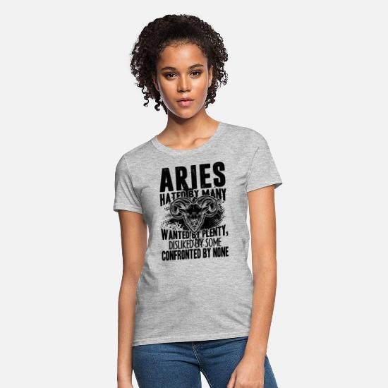 Aries T-Shirts - Aries Confronted By None Shirt - Women's T-Shirt heather gray