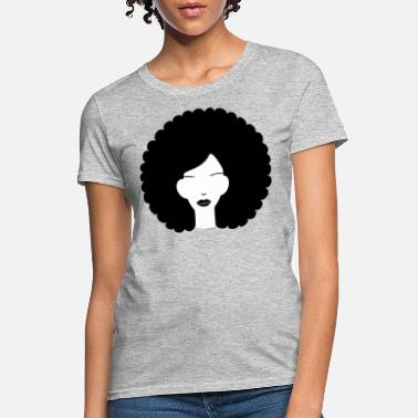 Hair Curly haired summer girl - Women's T-Shirt