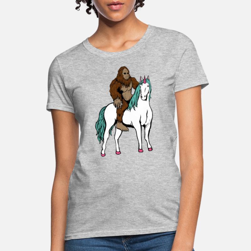 2bc9b982 Shop Bigfoot Riding A Unicorn T-Shirts online | Spreadshirt