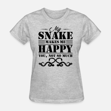 Snakes Snake Shirt - Snake Makes Me Happy T Shirt - Women's T-Shirt