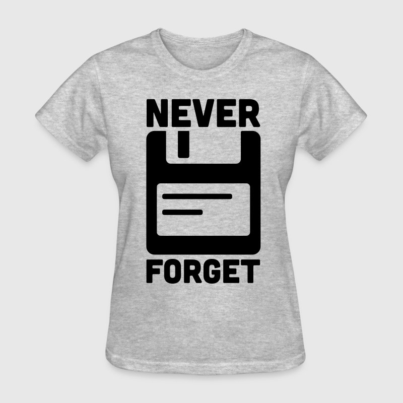 Never Forget Floppy Disk  - Women's T-Shirt
