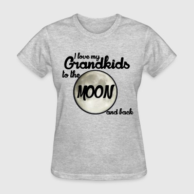 I love my grandkids to the moon and back - Women's T-Shirt
