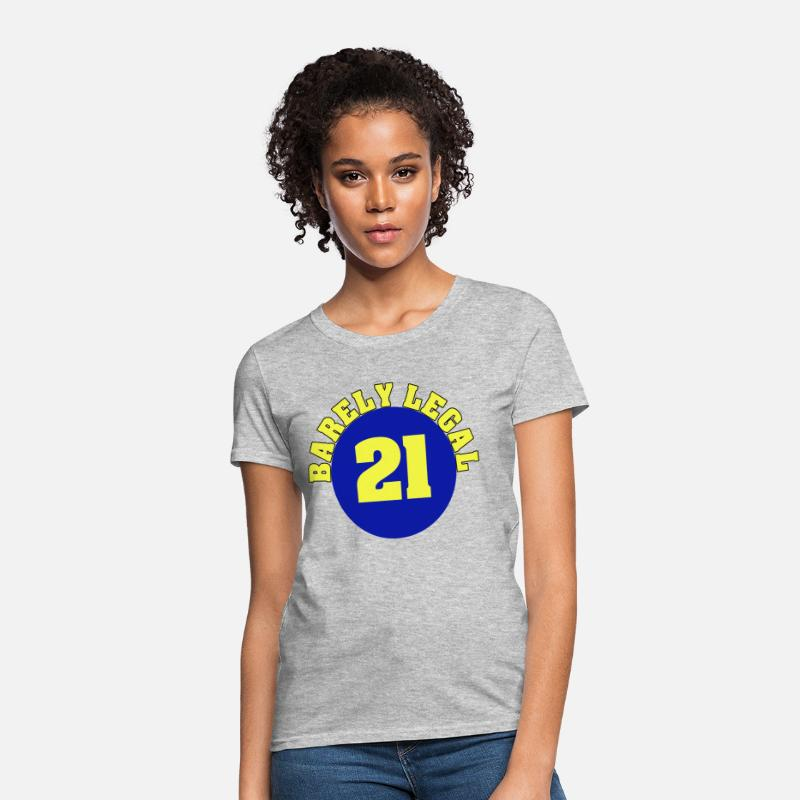 Barely Legal 21st Birthday Womens T Shirt