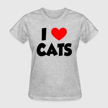 I Heart Love Cats - Women's T-Shirt