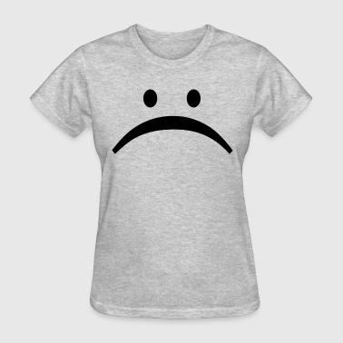 Unhappy Sad Face Smiley Emoticon - Women's T-Shirt