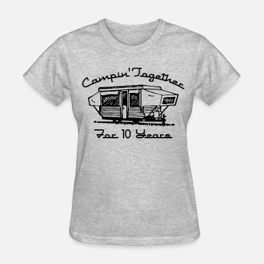 Second Wedding Her Camping Together 10 Years - Women's T-Shirt