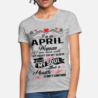 538adafe Shop Born In April T-Shirts online | Spreadshirt