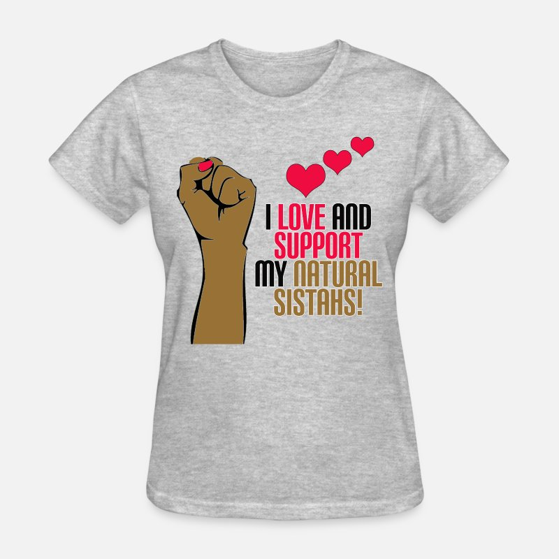 Soul T-Shirts - Support Natural Sistahs - Women's T-Shirt heather gray