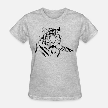 Silhouette Woman With Tattoo TIGER silhouette tattoo art - Women's T-Shirt