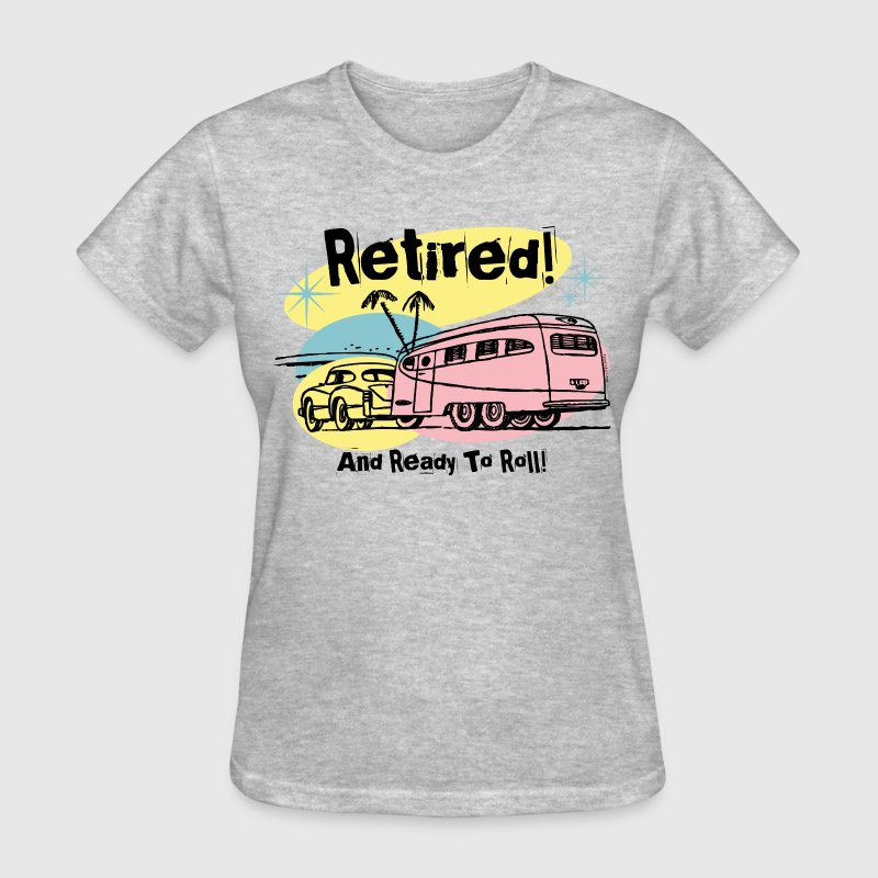 Retro Trailer Retired - Women's T-Shirt