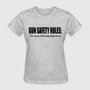 GUN SAFETY RULES - Women's T-Shirt