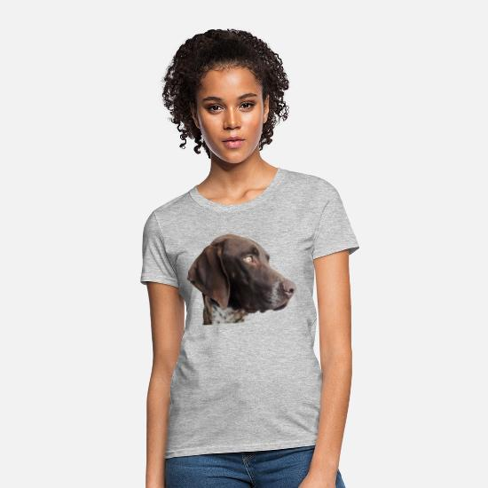 German T-Shirts - German Shorthaired pointer - Women's T-Shirt heather gray