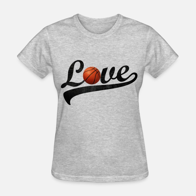 Basketball T-Shirts - love basketball - Women's T-Shirt heather gray