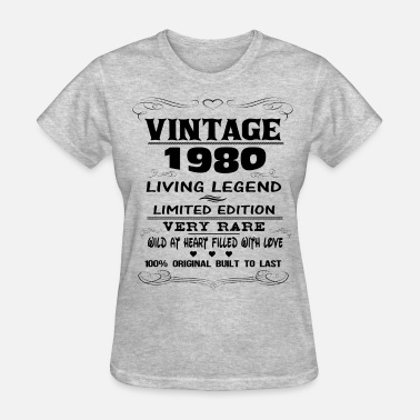 Vintage 1980 Birthday VINTAGE 1980 - Women's T-Shirt