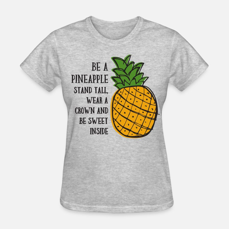 Pineapple T-Shirts - Be A Pineapple - Women's T-Shirt heather gray