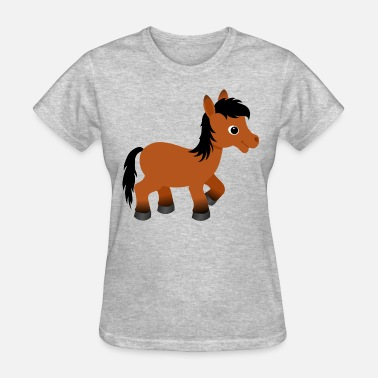 Brown Horse Cute Bay Pony Horse - Women's T-Shirt