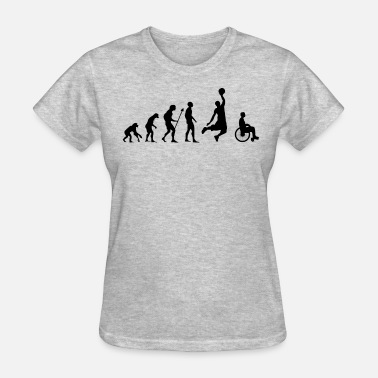 Injury Funny Funny Evolution Wheelchair Basketball Injury Gift - Women's T-Shirt