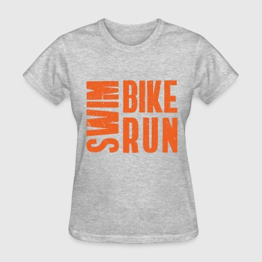 Triathlon Swim. Bike. Run - Women's T-Shirt