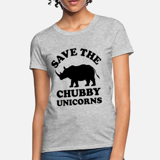 ffbef8d43 save the chubby unicorn - Women's T-Shirt. Back. Back. Design. Front