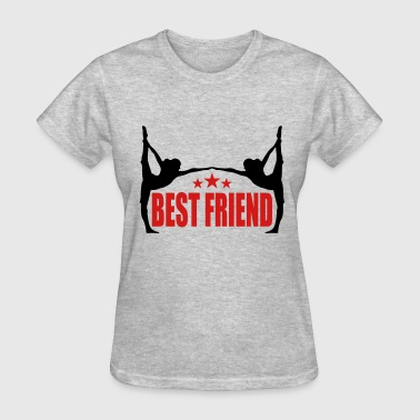 sports fitness yoga training best friends text log - Women's T-Shirt