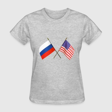 Usa Russia USA & Russia flags - Women's T-Shirt