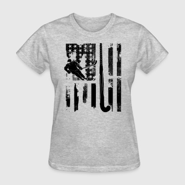 Hockey Flag Clothing Field Hockey Flag Shirt - Women's T-Shirt