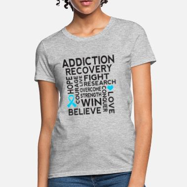 Addict Addiction Recovery Awareness Support Ribbon - Women's T-Shirt
