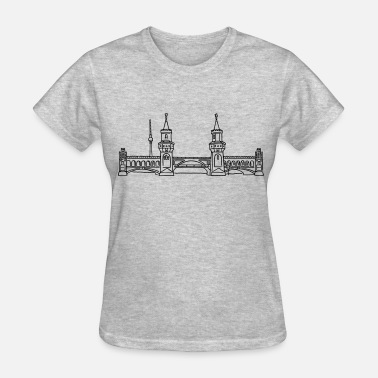 Friedrichshain Oberbaum Bridge in Berlin - Women's T-Shirt