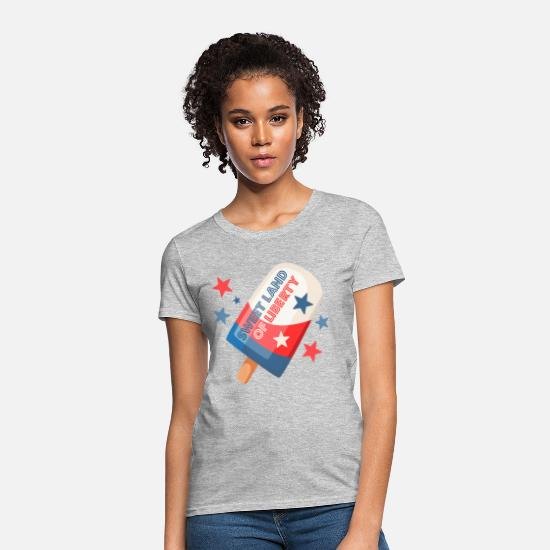 4th Of July T-Shirts - Ice Cream Pop 4th - Women's T-Shirt heather gray