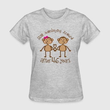 46th Anniversary Gift Couples His and Hers Monkeys - Women's T-Shirt