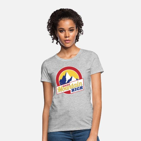 High T-Shirts - Rocky Mountain High Colorado - Women's T-Shirt heather gray
