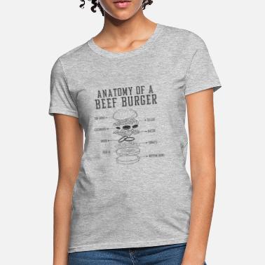 96d79c46496b Graphic Anatomy of a beef burger- - Women  39 s T-Shirt