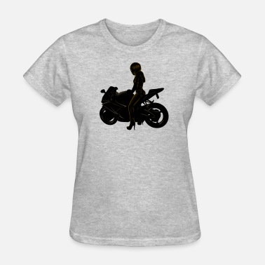 Motorcycle Girl Art motorcycle girl - Women's T-Shirt