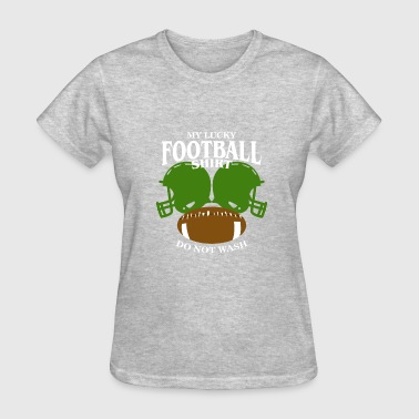 I Love My Football Boy My Lucky Football Shirt - Women's T-Shirt