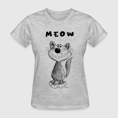 Pussy Painting Smiling Meow Cat - Cats - Cartoon - Gift - Fun - Women's T-Shirt