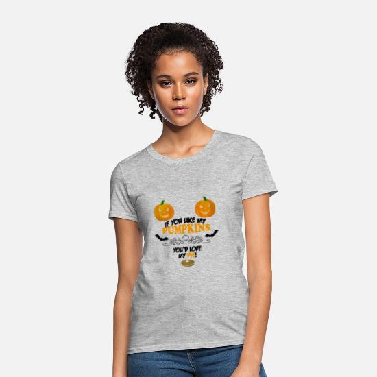 Spice T-Shirts - Pumpkin Pie - Women's T-Shirt heather gray