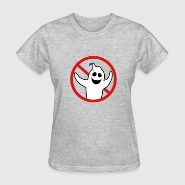 Fuck Forbidden sign symbol forbidden sign ghost ghost laugh cute - Women's T-Shirt