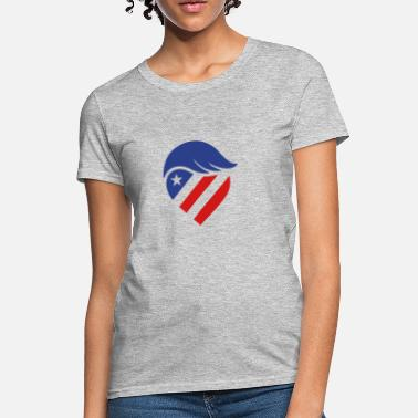 Trumps Hair TRUMP HAIR HEART USA  - Women's T-Shirt