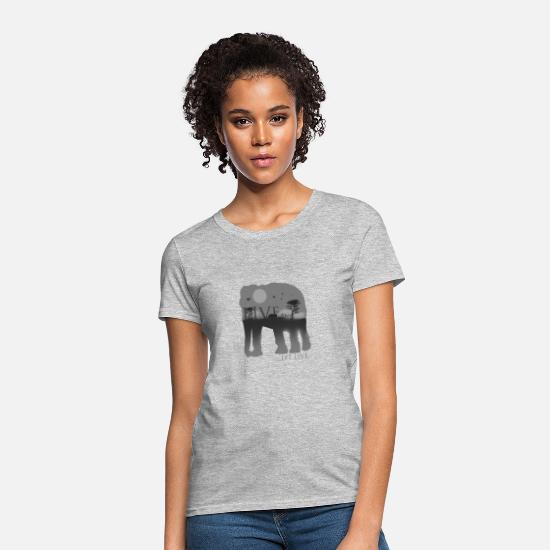 Africa T-Shirts - Live and let live - Women's T-Shirt heather gray