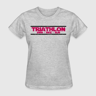 Triathlon swim bike run - Women's T-Shirt
