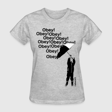 Obey Resistance OBEY - boy with umbrella - Women's T-Shirt
