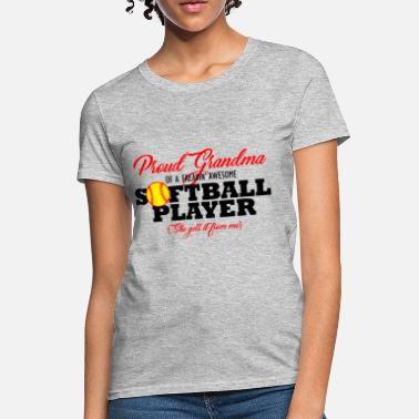 Softball Softball Grandma (She gets it from me) - Women's T-Shirt