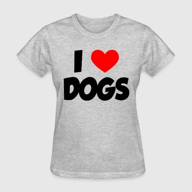 I Heart Love Dogs - Women's T-Shirt