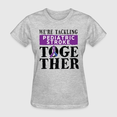 Pediatric Stroke Awareness Ribbon - Women's T-Shirt