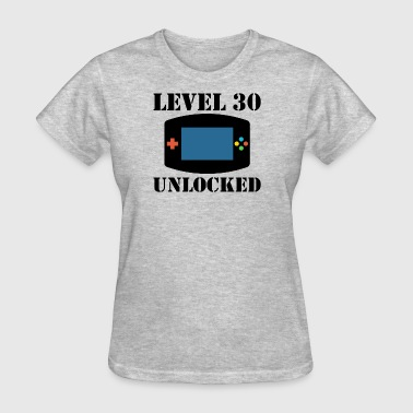 Level 30 Unlocked Video Games 30th Birthday - Women's T-Shirt