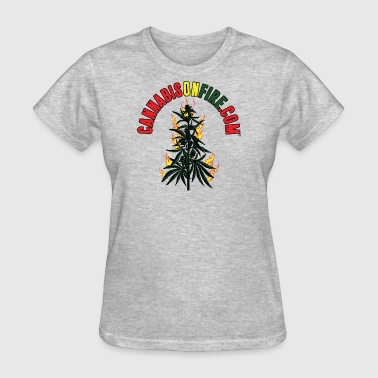 Cannabis On Fire T-Shirt 420 Cannabis Wear 2017 - Women's T-Shirt