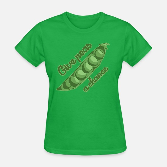 Peas T-Shirts - Give peas a chance - Women's T-Shirt bright green