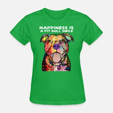 Smile Pit Bull - Happiness Is A Pit Bull Smile - Women's T-Shirt