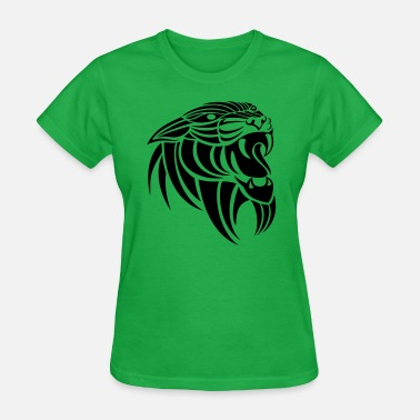Growling Tribal Panther - Women's T-Shirt
