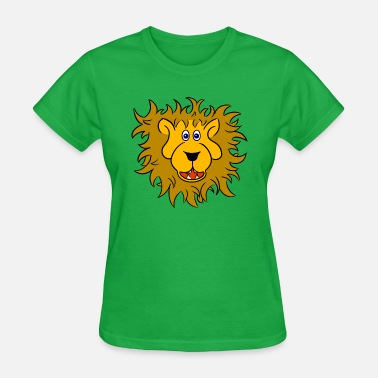 Lion-head Lion head of a friendly lion - Women's T-Shirt
